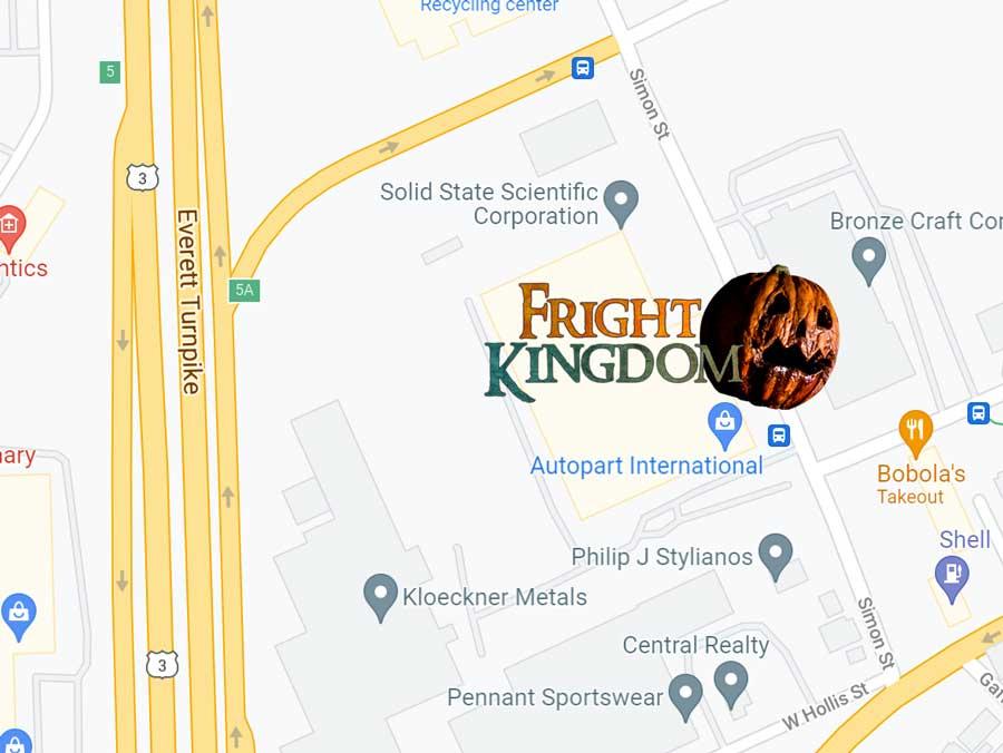 Map to Fright Kingdom